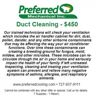 Duct Cleaning $450