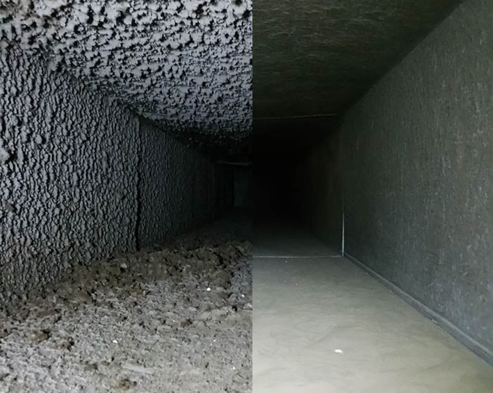 Duct Before and After